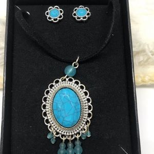 Avon Tribal Necklace And Earring Set